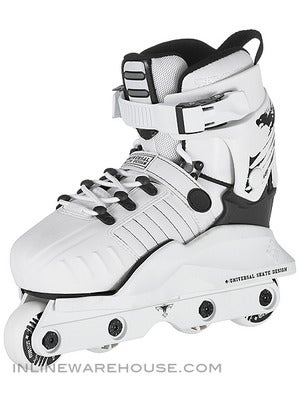 USD Transformer Adjustable Kids Aggressive Skates White