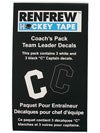 Renfrew Captain Jersey Decals - C and A Packs