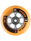 K2 Speed Inline Skate Wheels & Bearings 90mm 85A 8pk