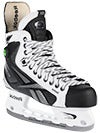 Reebok 20K White Pump Ice Hockey Skates Jr