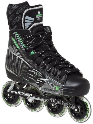 Tour Fish BoneLite Pro BLACK Roller Hockey Skates Sr