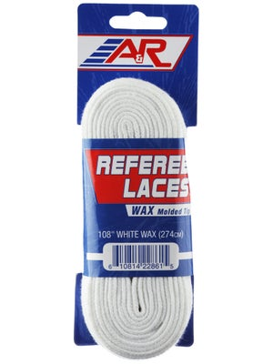 A&R Hockey Referee Skate Laces Waxed