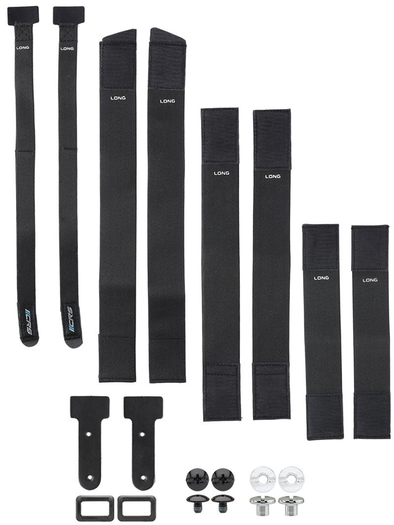 """Bauer Hockey Goalie Pads 1/"""" Quick Release Buckles 4 Pack New Black Ice Roller"""