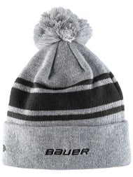 29a264a57a8 Bauer NewEra Team Striped Pom Pom Beanie - Ice Warehouse