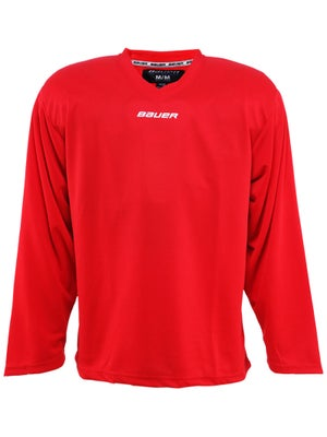 Bauer Core 6001 Practice Hockey Jersey Red Jr XL