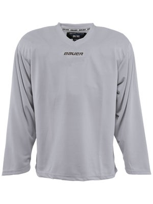 Bauer Core 6001 Practice Hockey Jersey Silver Jr SMALL