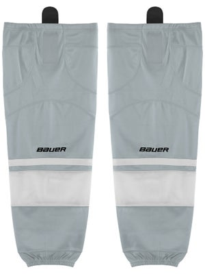 Bauer Premium Ice Hockey Socks Silver Jr