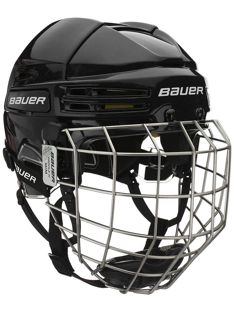 Hockey helmet with cage