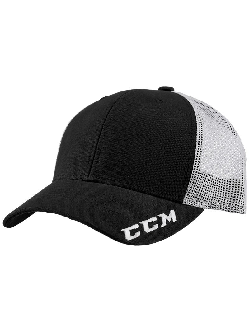 Adjustable Cap Senior Adult Hockey Red Blue Black CCM Team Trucker Mesh Hat