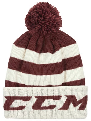 5834015b28b CCM Ivy League Striped Pom Knit Beanies Senior