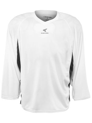 Easton Elite Dry Flow Jersey White & Black Sr