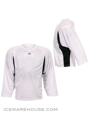 Easton Elite Dry Flow Player Jersey White & Black Jr