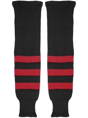 K1 Black & Red Ice Hockey Socks Sr