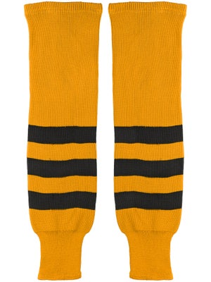 K1 Gold & Black Ice Hockey Socks Jr
