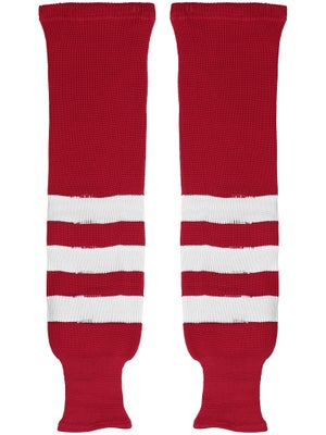 K1 Red & White Ice Hockey Socks Jr