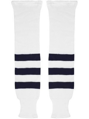 K1 White & Navy Ice Hockey Socks Sr