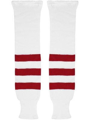 K1 White & Red Ice Hockey Socks Jr