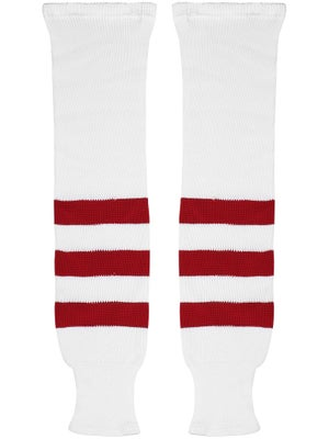 K1 White & Red Ice Hockey Socks Sr