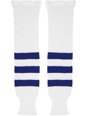 K1 White & Royal Ice Hockey Socks Jr