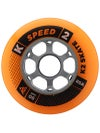 K2 Speed Inline Skate Wheels Orange/Black 85A 4pk