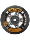 K2 Active Wheels & Bearings 80A Orange/Black 8pk