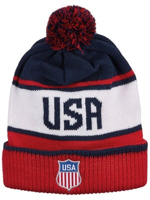 8b747c27cba Nike USA Hockey 2018 Olympic Script Pom Beanie Junior