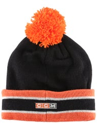 713b0b25cc49a8 Philadelphia Flyers CCM Cuffed Pom Knit NHL Beanie - Ice Warehouse