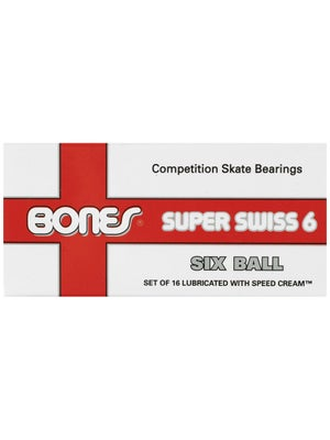 Bones Super Swiss 6 608 Bearings 16 Pack