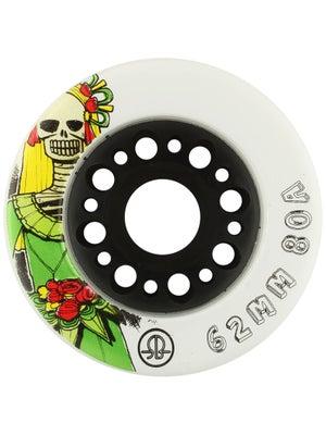 RollerBones Day of the Dead Wheels - White 4pk