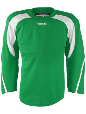 Reebok Edge Hockey Jersey Kelly Green & White Sr