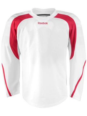 Reebok Edge Hockey Jersey White & Red Sr