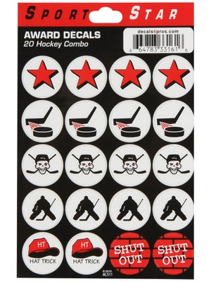 SportStar Hockey Helmet Combo Award Decal Set