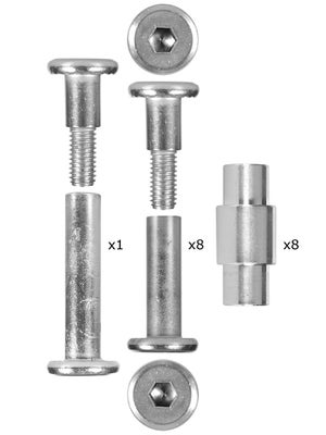 Sonic Universal Extender 6mm Inline Axle Kit (8)