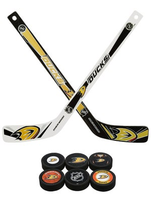 Sherwood NHL Team Plastic Mini Hockey Sticks 6pk