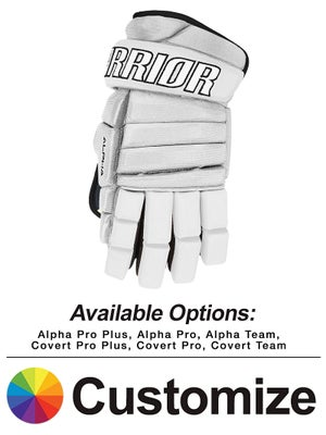 Custom Warrior Hockey Gloves Sr & Jr