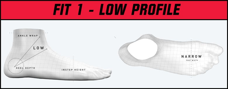 Bauer Skate Fit 1 - Low Profile graphic