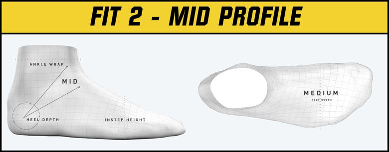 Bauer Skate Fit 2 - Mid Profile graphic