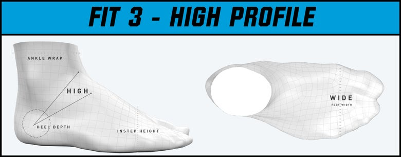 Bauer Skate Fit 3 - High Profile graphic